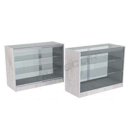 Mostrador vitrina color roble W 120cm