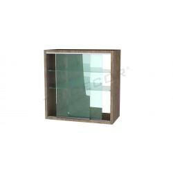 Display cabinet wall oak clear 60x80x30cm