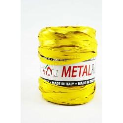 Nastro di rafia oro metallizzato, a 200 metri