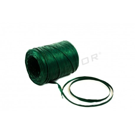Ribbon raffia metallic green 200 metres