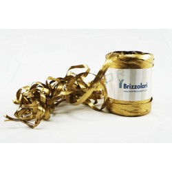 Tape raffia-synthetic gold metallic 200 meters