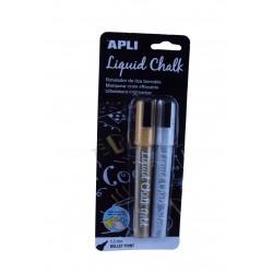 Marker pen chalk liquid silver and gold