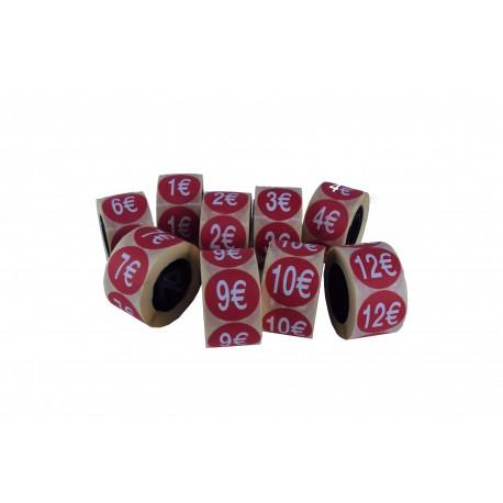 Etiquetas adhesivas varios precios, rojo, tridecor