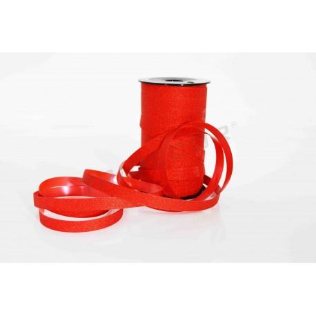 Cinta para agasallos vermello con glitter 50 metros