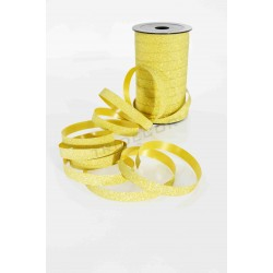RIBBON GIFT WITH GOLD GLITTER 50 METERS