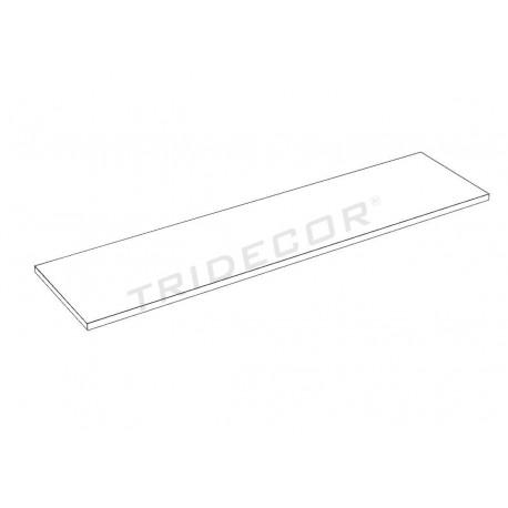 Prateleira de madeira branca 120x30cm19mm