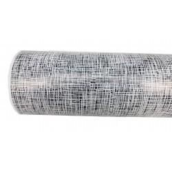 Papel de embrulho branco/preto 62cm