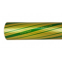 Paper gift gift desire you like green/gold 62cm