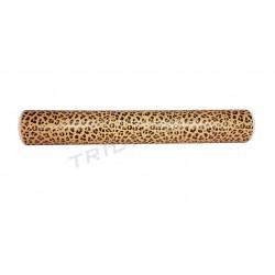 Papel de presente com estampa leopardo 62cm