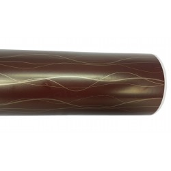 Gift wrapping paper with golden lines background chocolate 62cm