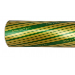 Papel de regalo deseo que te guste verde/dorado 31cm