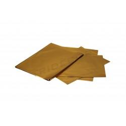 Sobre de plástico metalizado color oro. 60x40 cm. 50 uds, tridecor