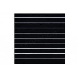 Panneau de lama noir mat 9 guides 120x120 cm Tridecor