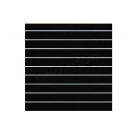 Panel de lama negro mate 9,5 guias 120x120 cm. Tridecor