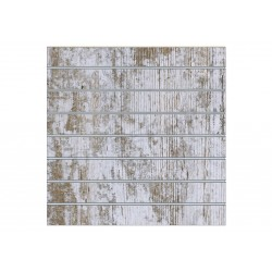 Panel de lamas madera Harry 7,5 guias 120x120 cm