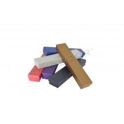 010896 Caja alargada para joyería, 23.5x4.5x3 cm Varios colores 12 unidades. Tridecor