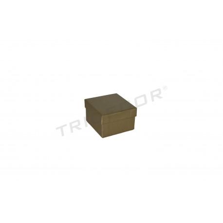 Caixa de joieria material en brut 4x4x2cm 24 unitats