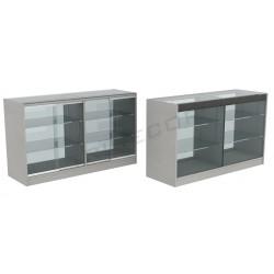 Balcão vitrine cor cinza 150cm