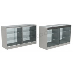 Counter top display case gray color 150cm