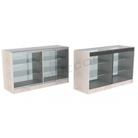Mostrador vitrina color roble W 150x90x50cm