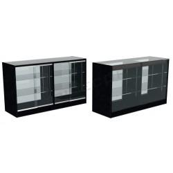 Balcão vitrine cor preto 150cm