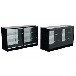 Counter display case colour black 150cm