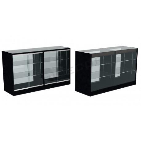 Mostrador vitrina color negro 150cm
