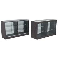 Balcão vitrine cor carvalho escuro 150cm