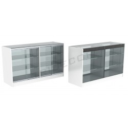 Bancone vetrina bianco 150cm