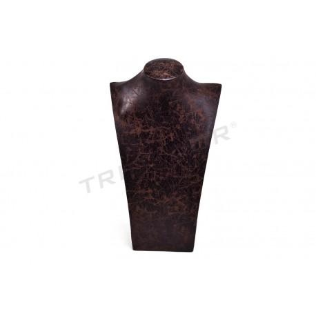 Expositor collares, polipiel marrón. tridecor