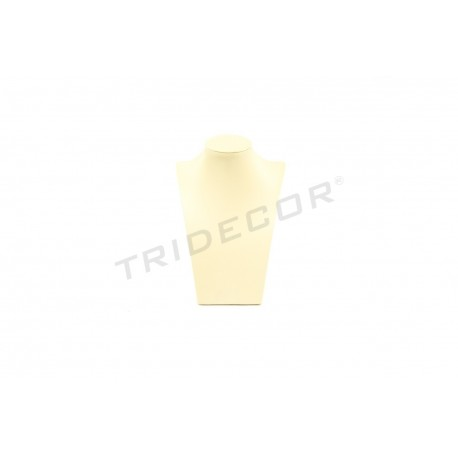 Expositor collares, polipiel vainilla, tridecor