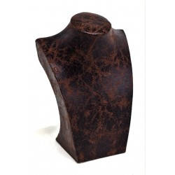Expositor collares, polipiel marrón, pequeño. tridecor