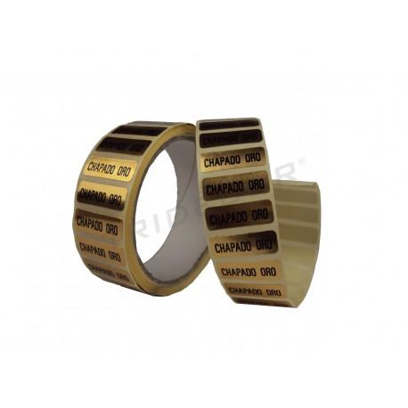 Etiqueta adhesiva ,Chapado oro, 500 uds., tridecor