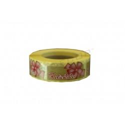 Adhesive label, Congratulations, occasion pink ribbon. tridecor