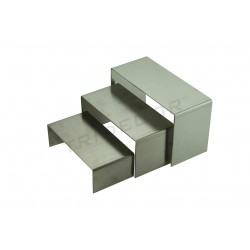 Expositor de acero forma C 3 alturas, tridecor
