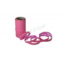 Cinta de papel a rayas rosa, 50 mts. tridecor