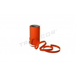 PAPER TAPE STRIPED ORANGE 50 MTS