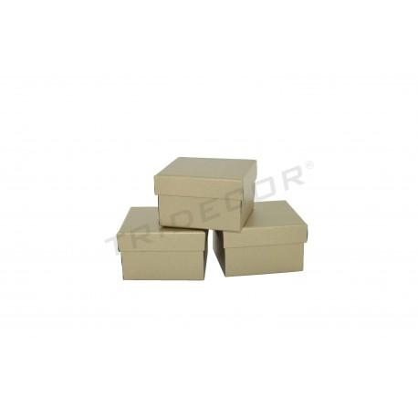 Scatola per orologi d'oro materiale grezzo 8.5x9x5.5cm 12 unità