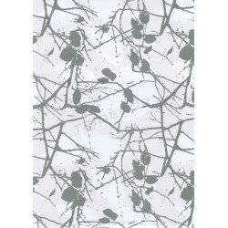 Paper gift branches silver 62cm