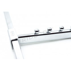 COLGADOR INCLINADO PARA TUBO RECTANGULAR, 8 BOLAS