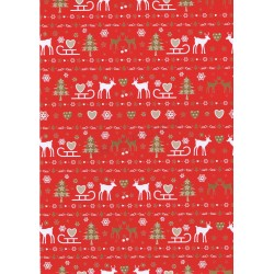 Gift wrap christmas red background 62cm