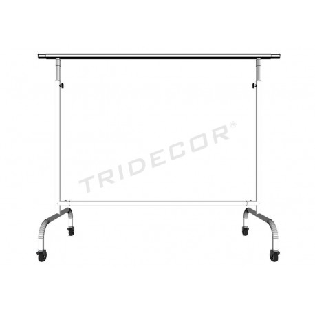 Garment rack adjustable extensible arms white, tridecor