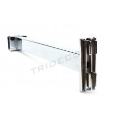 002152 Soporte de barra rectangular para cremallera 25 cm. Tridecor