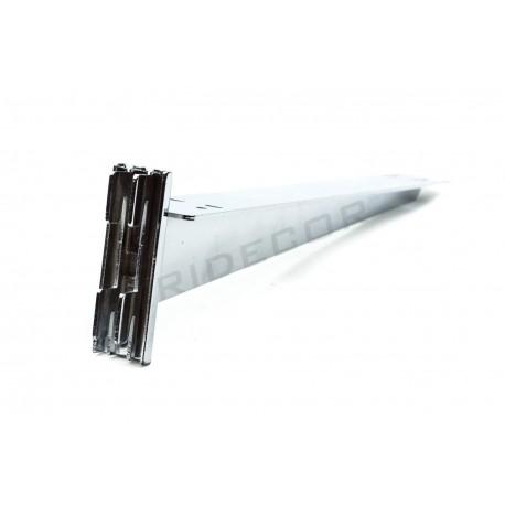 002295 Soporte de estante doble para sistema de cremallera. Tridecor