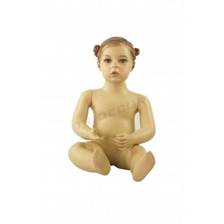 Maniquí nen nena asseguda d ' 1 any de color de carn company