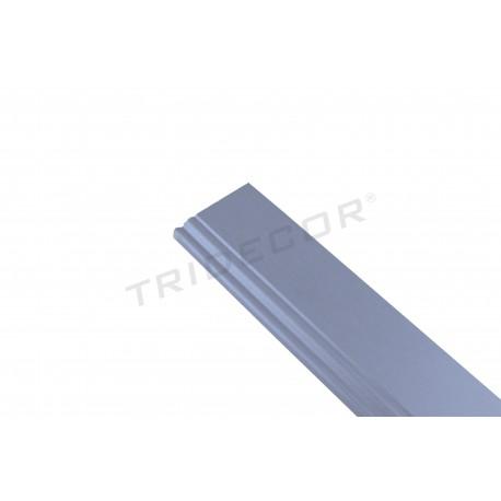Rodapie mdf gris para o panel de lámina 240 cm, tridecor