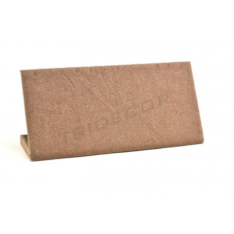 Expositor horizontal de pulseras, lino marron