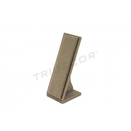 Expositor vertical para pulseras, lino marrón, tridecor