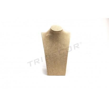 Expositor collares, lino grueso 18.5x10x30 cm, tridecor