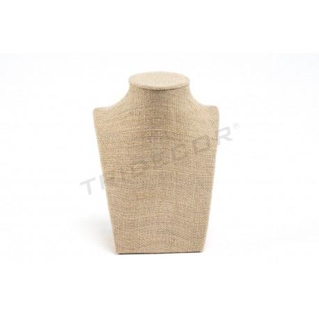 Expositor collares, lino grueso 16x12x8 cm, tridecor